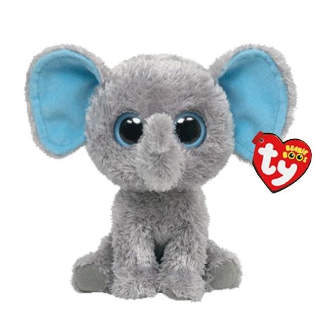Ty Beanie Boos Plush Animal Doll Peanut Gray Elephant Soft Stuffed