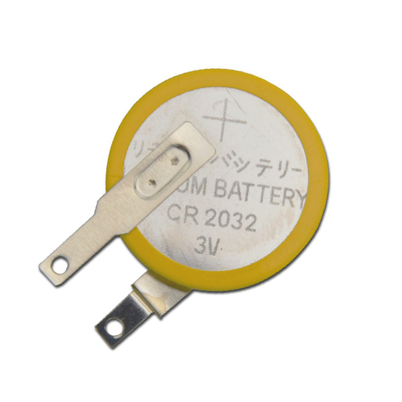 New 5pcs/lot CR2032 Tabs Solder Foot Soldering Welding Battery Coin Batteries 210mAh 3V Button 2032 Cell Battery Factory