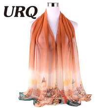 Women Solid Color Long Scarf