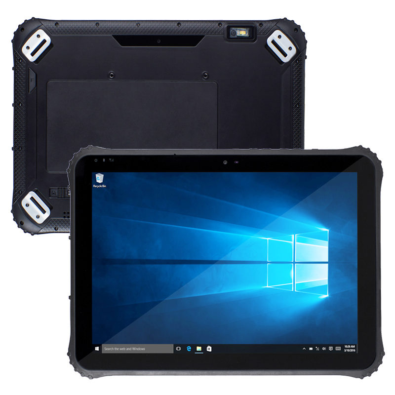 1D Barcode Scanner RAM 4GB ROM 64 12 Inch 4G LTE Windows 10 Pro Rugged Tablets Industrial Panel PC With Charging Stand