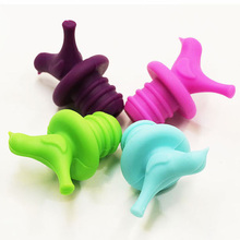 1Pc Creative Bird Design Silicone Wine Stopper Bottle Caps Wedding Gift Pourer Stoppers