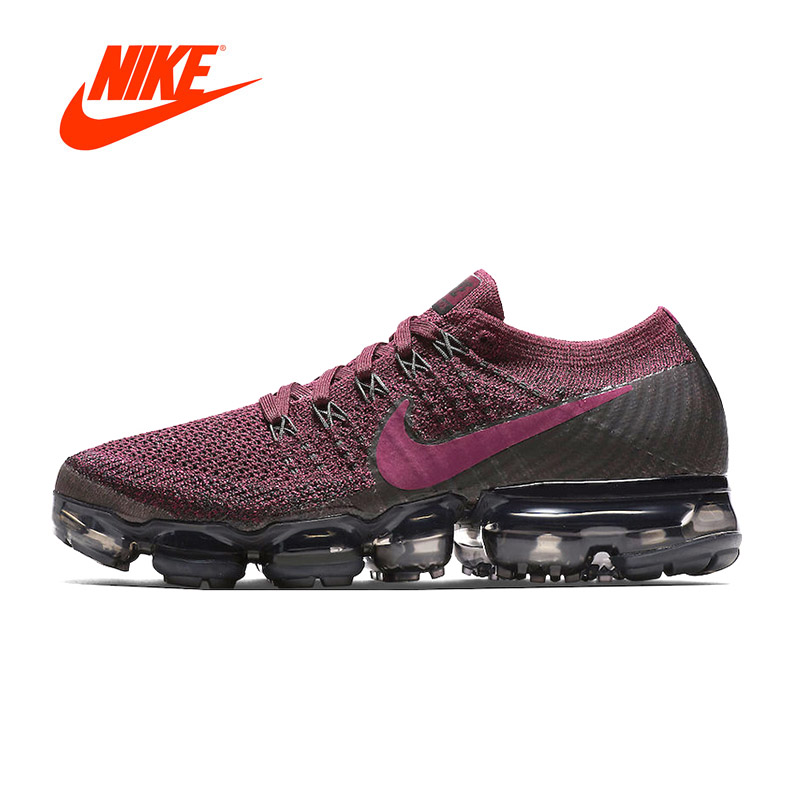 Original New Arrival Authentic Nike Air VaporMax Flyknit Women's Running Shoes Sport Outdoor Sneakers Good Quality 849557-605 цена