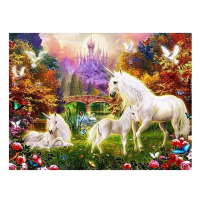 5D DIY Diamond Painting Cross Stitch Kits Animal Horse Pattern With Rhinestones Square Diamond Embroidery Home