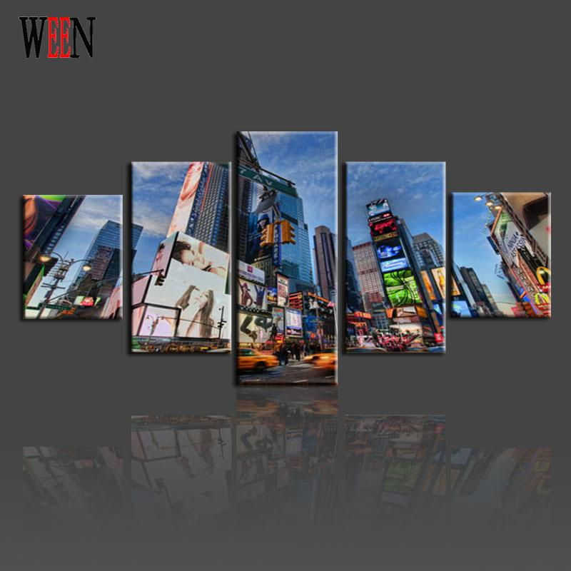 5 Stck New York City Wall Bilder Leinwand Kunst Set Fr Wohnzimmer HD Druck Grosse Moderne