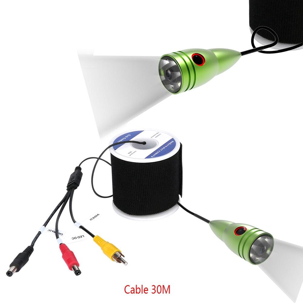 MAOTEWANG 1000tvl câble de pêche sous-marine + caméra avec 6 pièces 1 W LED lampes blanches
