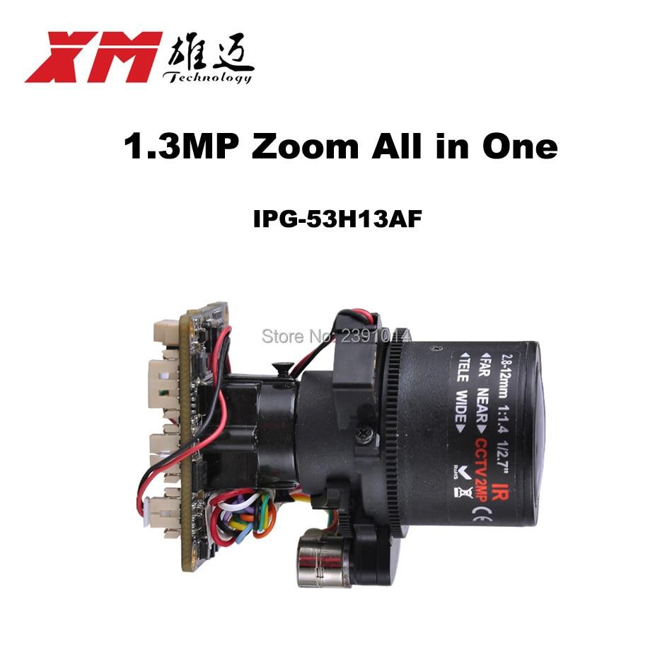 """bilder für HD 1. 3MP (960 P) autofokus 2,8 ~ 12mm X4 Zoom 1/3 """"CMOS AR0130 + Hi3518C PTZ ip-kamera-modul bord Unterstützung RS485 schnittstelle"""