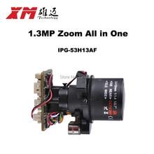 HD 1 МП (960 P) автофокус 2.8 ~ 12 мм X4 Zoom 1/3 «CMOS AR0130 + Hi3518C PTZ IP камеры совета модуль RS485 Поддержка интерфейса
