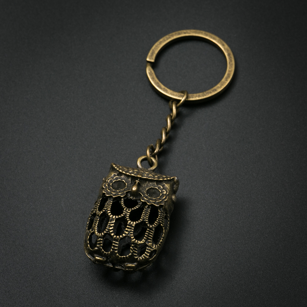 Fashion Creative Owl Keychain Metal Charm key ring For Gift Car Key Chain Jewelry стоимость