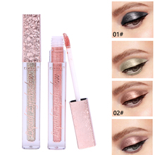 FaRRES 1PC 12 Color Liquid Glitter Pencil Waterproof Long-lasting Shimmer Eyeshadow Makeup Soft Colors Metallic Eye Shadow