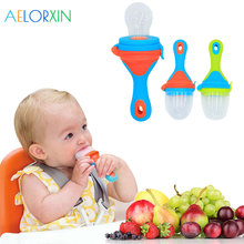 1Pcs Pacifier Food Nibbler Baby Pacifiers Nipple For Fruit Feeder Nipples Bottle Feeding Safe