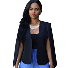 Otoño solapa capa recortada camisetas Tops Irregular Blazer Slim Fabala  traje de las señoras fresco Outwear 21f05006a7de