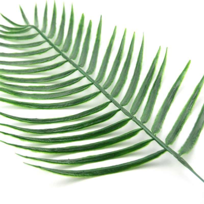 2 Pcs Grote Plastic Kunstmatige Groen Blad Tropische Palm Gebladerte Plant Voor Hawaiian Party Wedding Home Garden Decorations