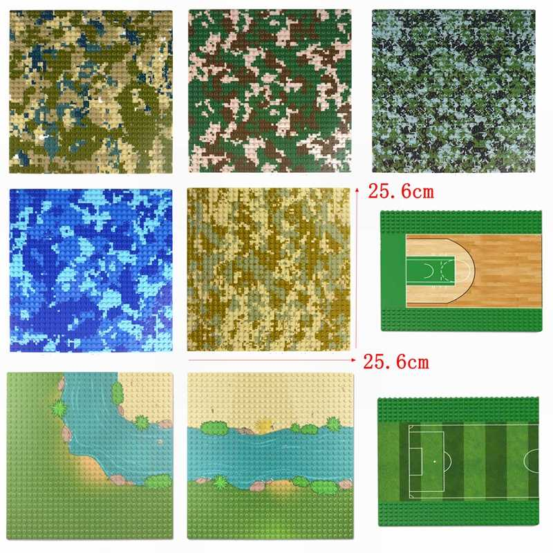 Legoing Figures Parts Baseplate 32*32 & 16*32 Dots DIY Building Blocks Toys for Children Compatible Baseplate Base Plate Gifts