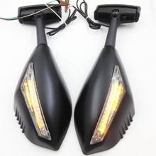 For Motorcycle Honda CBR 900 929 954 1000 RR F2 F3 Matt BLACK LED Turn Signals Integrated Mirror