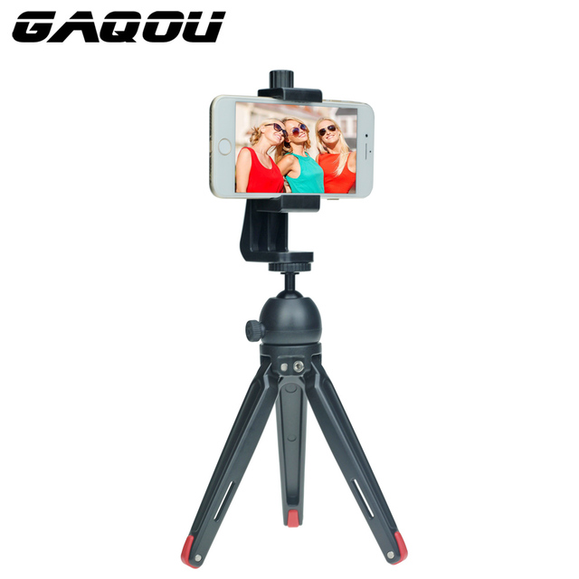 timeless design a675e 1b52c US $6.15 30% OFF|GAQOU Mini Handheld Metal Tripod Stand for Mobile Phone  DSLR Camera Monopod for iPhone 8 X Huawei Tabletop Tripod for GoPro-in Live  ...