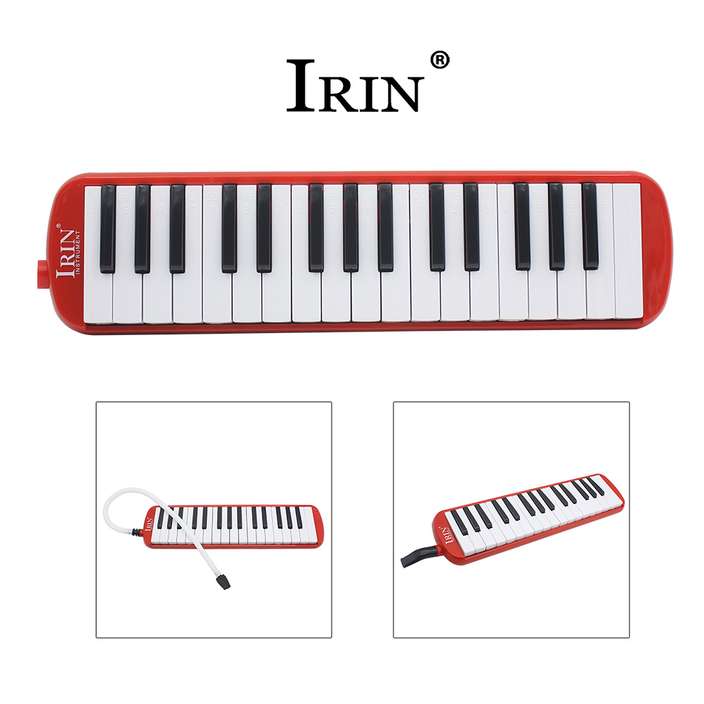 RU New Style Red Black <font><b>32</b></font> <font><b>Keys</b></font> <font><b>Melodica</b></font> Musical Instrument Piano Harmonica For Music Lovers Beginners Gift With Carrying Bag image