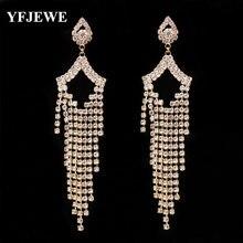 Yfjewe женские классические банкетные серьги с кисточками элегантные