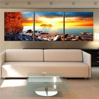 Hot Selling Only Canvas 3 Pieces Home Decor Art Painting Modern Picture No Frame All Love It For Sunshine Future -33407-JBO