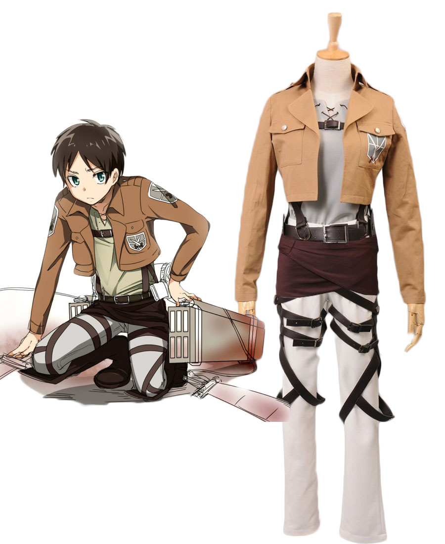 Eren Jaeger Cosplay Costume Attack on Titan Trainee Class Cosplay Costume Full Set Custom Made
