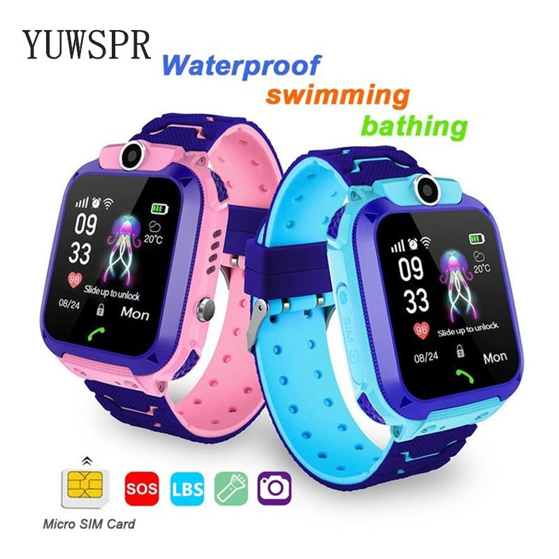 Children Tracker Watch LBS Position Waterproof Camera IOS Android Multifunction Digital Wristwatch Kids Gift Q12 TD27 1PCS