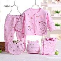 E Bainel 5pcs Set Newborn Baby Clothing Sets Baby Girls Boys Clothes Hot Brand Baby Gift