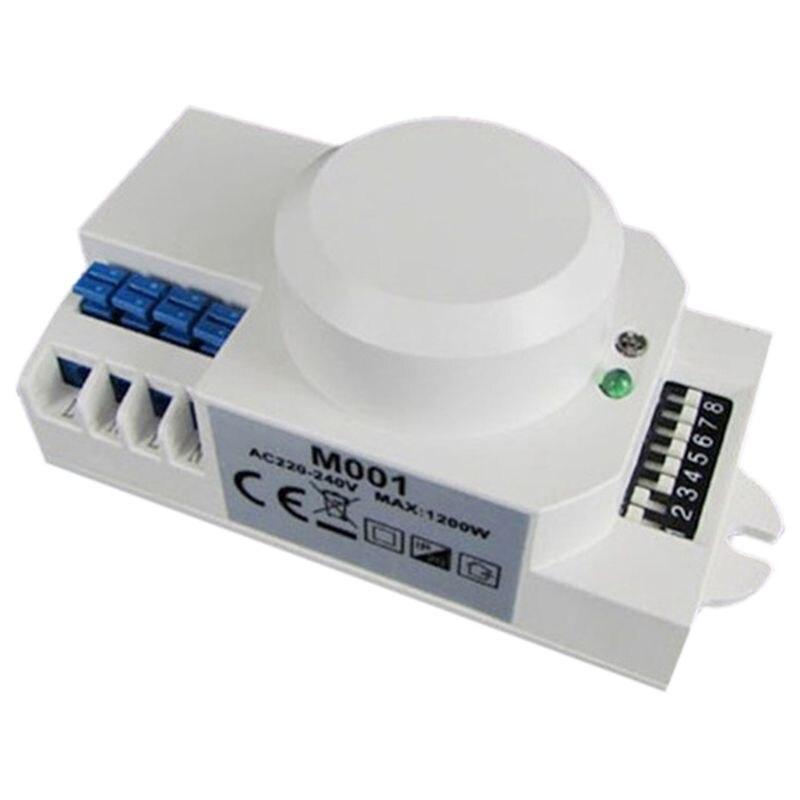 220V 360 Degree Microwave Sensor Light Switch Induction Microwave Motion Sensor Switch Vibration Sensor