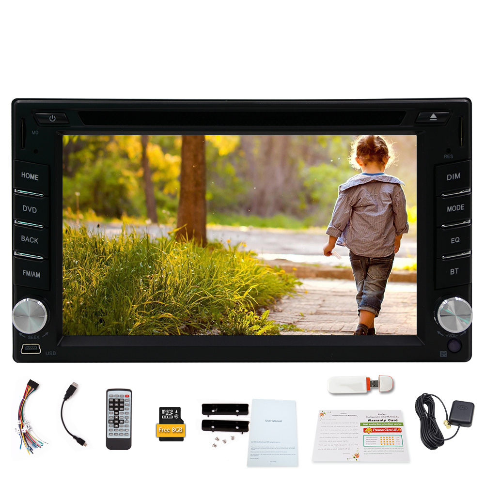 FM CD SD Autoradio MP5 Radio Video Stereo GPS Map iPod RDS Head Unit Electronics MP3 3D Car DVD Player Bluetooth 3G