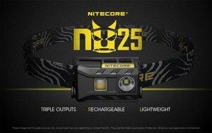 NiteCore NU25 Cree XP-G2 S3 белый + CRI + красный USB Перезаряжаемый налобный фонарь