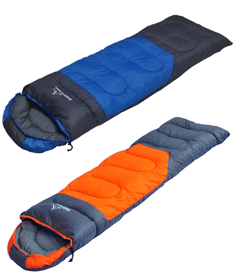 ФОТО Outdoor Camping 1.8kg 1 Person Winter Thicken Envelope Cotton Sleeping Bags (190+30)x75cm 2 Colors 3 Seasons Stitchable