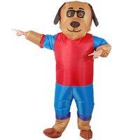 Fancy Inflatable Cartoon Dog Costume Adult Blow Up Halloween Cosplay Costume Christmas Party Festival Stage Performance Clothing