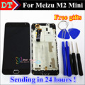 High Quality New MEIZU LCD Display +Digitizer Touch Screen assembly For Meizu M2 mini  Phone 5.0 inch Black Color With Frame