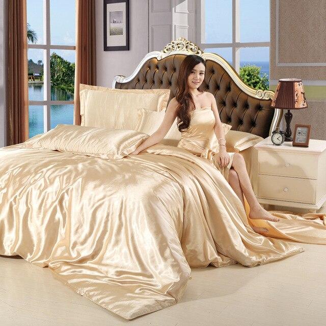 2016 Luxury Silk Cotton Queen/Full/King Sizes Bed Set Wedding Bedding Set  Sale