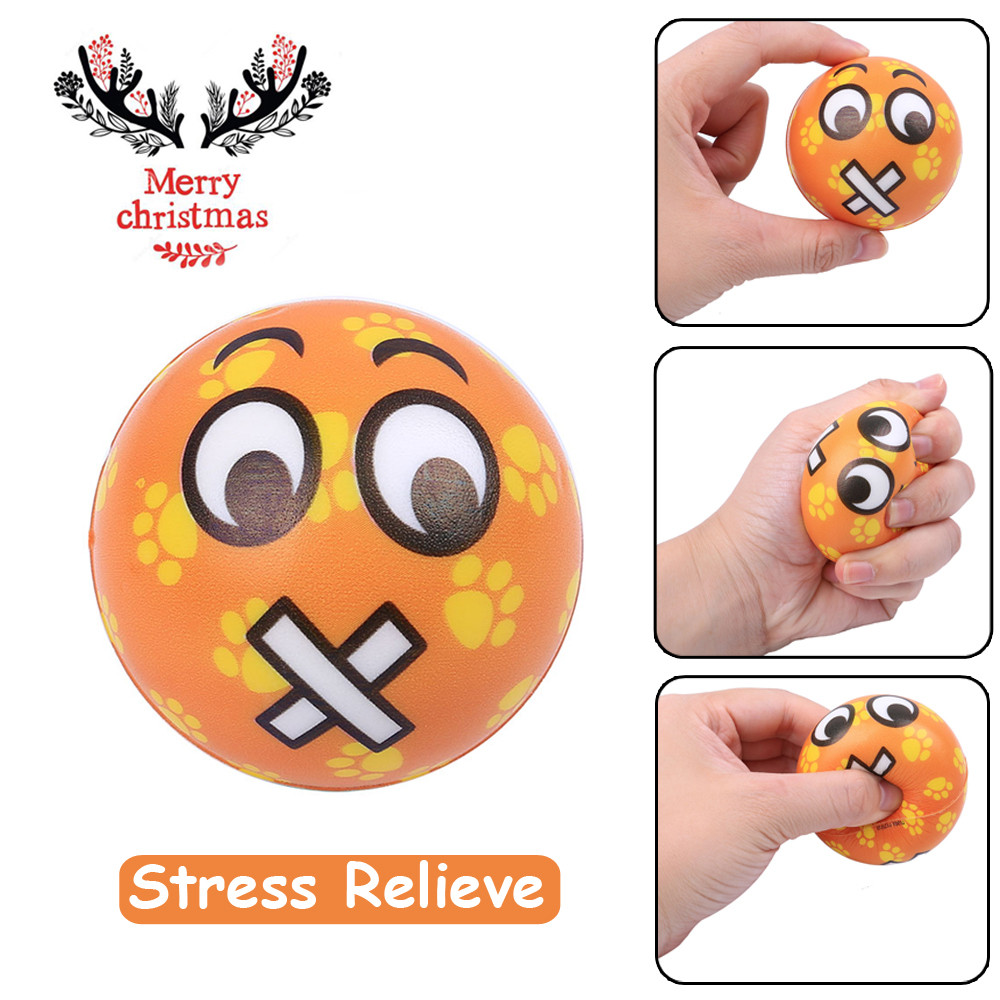 Original Kawaii Cute Lovely Christmas Present Mouth Emotion Ball Elasticity Rising Kids Skuishy Toys Gift Toys Dropshopper