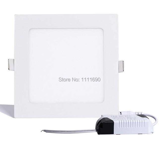 Us 4 33 38 Off Aliexpress Square Recessed Lighting Fixture Kit Warm White 3w 4w 6w 9w 12w 15w 18w Led Panel Light 6500k Ceiling Spot