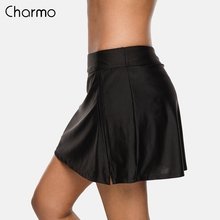 Charmo Women Bikini Bottom Swim Trunks Ban Solid Skirt Build-in Brief Swimwear Briefs Swimming Shorts Dress Bottoms