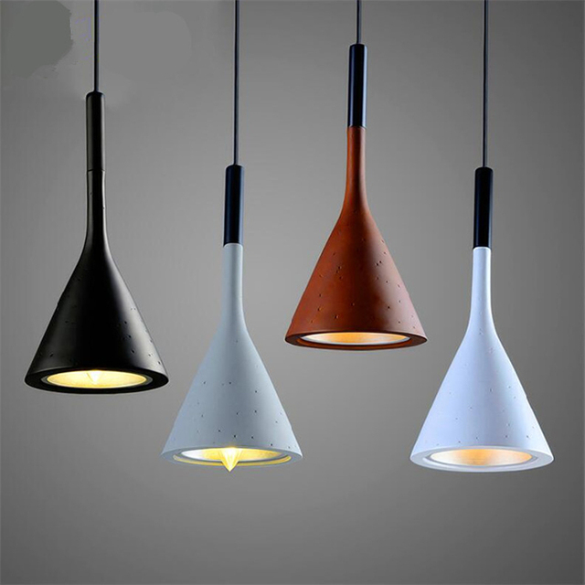 Black/Brown/Grey/White Lamp Resin Pendant Light Fixtures