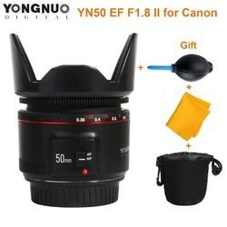 YONGNUO YN50mm F1.8 II Large Aperture Auto Focus Lens for Cannon Bokeh Effect Camera Lens for Canon EOS 70D 5D2 5D3 600D DSLR