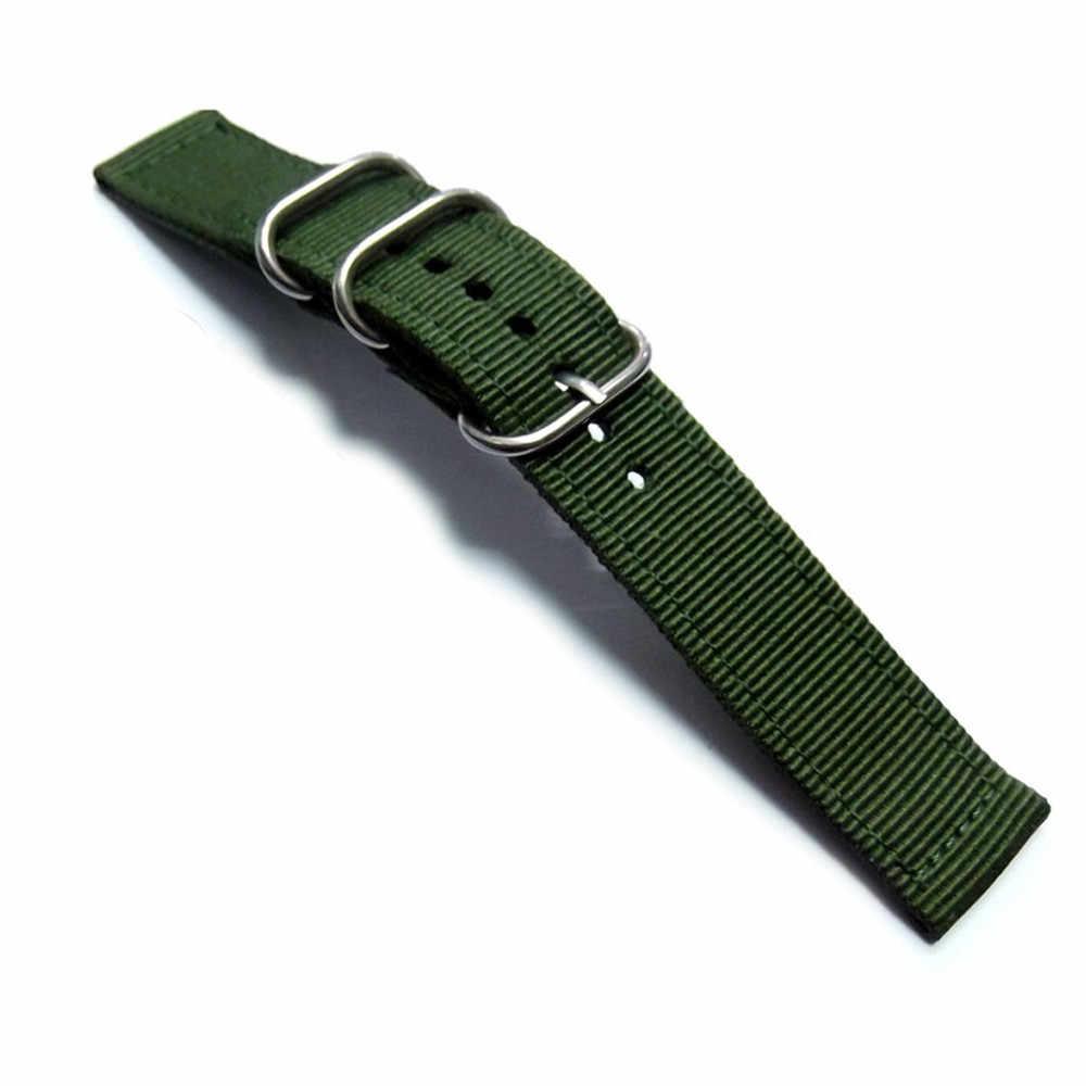 """צבא ספורט נאט""""ו בד ניילון רצועת השעון 18 20 22 mm שחור כחול אבזם חגורת בד לגברים נשים שעון רצועה ремешок для часов"""
