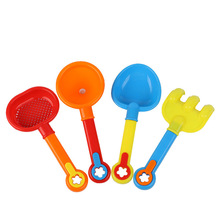TikTok New beach shovel four sets of children play sand play water every family plastic small shovel 22cm toy manufacturers