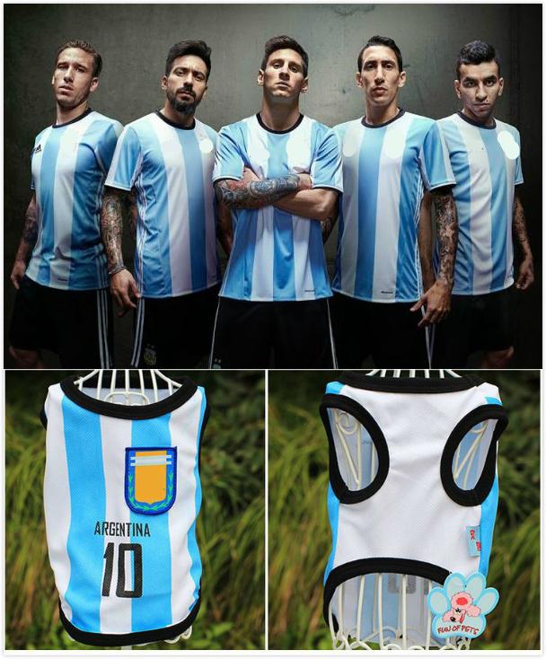 Cat Dog Shirt World Cup Soccer Jersey Pet Vest Football National ... 03e0539e7