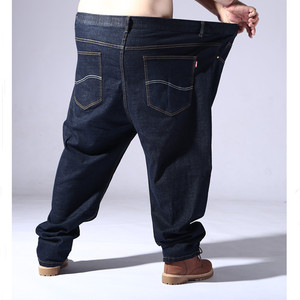 Image 4 - Plus Big Size Black Jeans Men 5XL 6XL 7XL 8XL 54 56 58 59 60 200KG Elastic Denim Trousers Mens Jean Brand 2019 Pants Man Clothes
