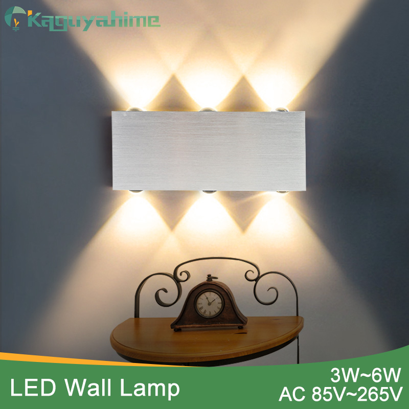 Kaguyahime Wall Lamp Modern Sconce Stair led wall Light Fixture Living Room Bedroom Bedside Indoor Lighting Home Hallway Silver