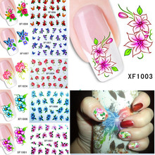 60Sheets Nail Art Flower Water Tranfer Sticker Nails Beauty Wraps Foil Polish Decals Temporary Tattoos Watermark