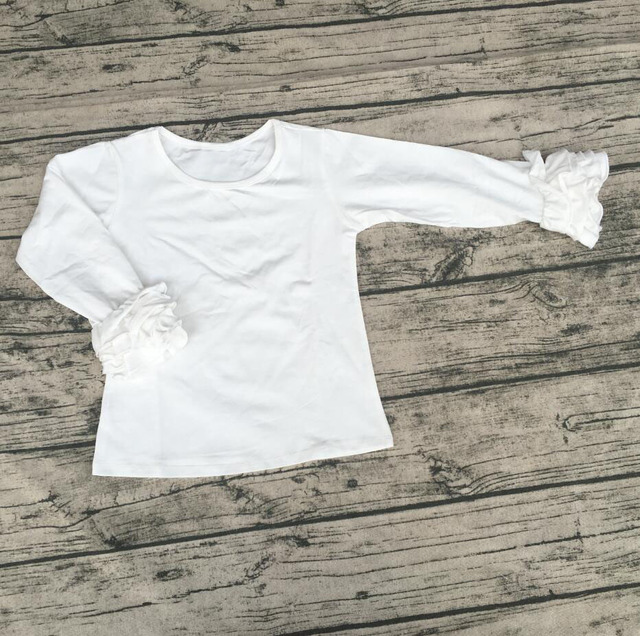 08546ce4a6b4 Custom blank children plain clothing simple cotton t shirt designs solid  color icing shirts baby girls white tops