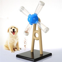 Pet Cat Windmill Toy Doggy Activity Food Reward Turn Around Puzzle for Dog Strategy IQ Game Interactive Toy for Dogs