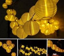 Xmas Christmas Tree Decorations Lantern 20 LED String Waterproof IP55 solar Garden Holiday ornaments Decor light