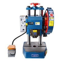 JB04 0.5T Small Punch Press Electric Punching Machine Pedal Manual Dual purpose Desktop Punching Machine 220V/380V 0.25Kw 120MM