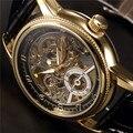 Часы ORKINA мужские  кожаные  классические  ретро  золотые  деловые  автоматические