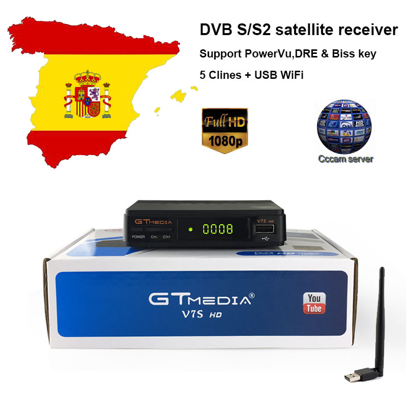 NEUE kommen GTmedia V7S HD 1080 p HD Rezeptor DVB-S2 cccam DDR2 Speicher satellite TV Decoder USB Wifi Unterstützung YouTube, youporn