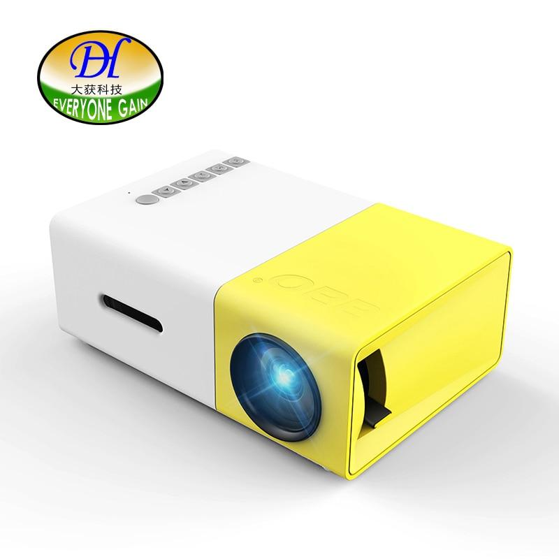 Everyone Gain LED Mini Handy Projector Mobile <font><b>Phone</b></font> Projector Para Celular with <font><b>HDMI</b></font> VGA Pico YG300 Battery LED Retro Beamer